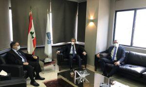 وزني استقبل موسى ورئيس الهيئة الوطنية لسلامة الغذاء