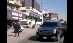 موكب اللواء ابراهيم يقتحم المحتجين في الزوق (فيديو)