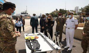 حفل تسلّم معدات هيدروغرافية ايطالية الى البحرية اللبنانية (صور)