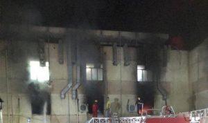 حريق في مستشفى مختص بمصابي كورونا في بغداد (فيديو)