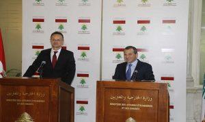 مؤتمر مشترك لباسيل ووزير الخارجية الهنغاري الاثنين