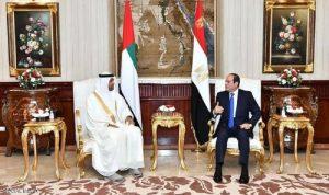 السيسي وبن زايد يؤكدان على التنسيق لحماية الأمن العربي