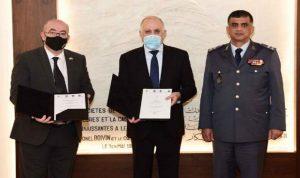 توقيع مذكّرة لدعم استراتيجيّة قوى الأمن بين فهمي ولونغدن