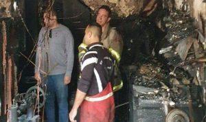 فوج إطفاء بيروت أخمد حريقا في مار الياس
