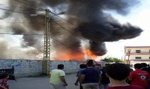 حريق في مخيم للنازحين السوريين في بحنين – المنية