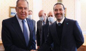 موسكو: هذا ما ناقشه لافروف مع الحريري