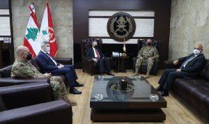 قائد الجيش استقبل شهيب والسفير السوري