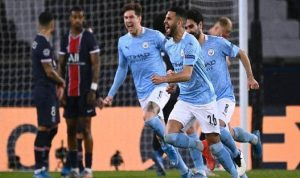 مانشستر سيتي يحقق فوزًا ثمينًا على باريس سان جيرمان