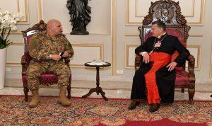 الراعي استقبل قائد الجيش: لدعم المؤسسة العسكرية