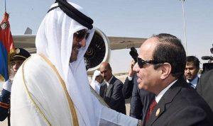 اتصال بين السيسي وأمير قطر