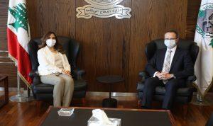 عكر بحثت مع سفيري تركيا وهولندا في العلاقات الثنائية