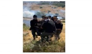 بالفيديو- سقوط جريح على الحدود الجنوبية