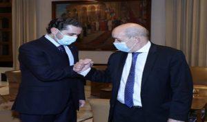 الحريري يلتقي لودريان في قصر الصنوبر