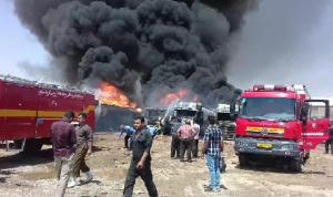 حريق هائل في مصنع للكيماويات بإيران