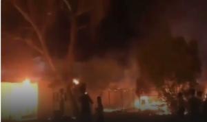 إضرام النار بالقنصلية الإيرانية في كربلاء (فيديو)