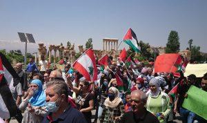 مسيرة في بعلبك دعماً لفلسطين والقدس