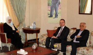 العلاقات الثنائية بين بهية الحريري وسفير تركيا