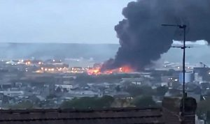 حريق في مصنع كيميائي شمال باريس