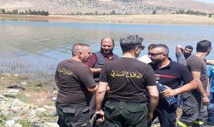انتشال جثة من بحيرة على الحدود اللبنانية – السورية