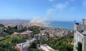 حريق كبير في منطقة الدورة (فيديو وصور)