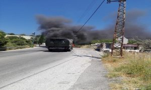 إخماد حريق شب في صهريج مازوت للجيش