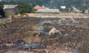 حريق أعشاب يابسة وأشجار مثمرة في مرجعيون