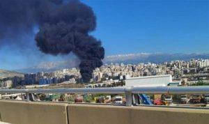 حريق في سوق الأحد في التبانة