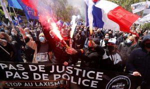 شرطيون فرنسيون يتظاهرون للمطالبة بحمايتهم من العنف