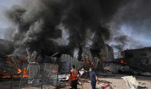 إسرائيل تستهدف مقرًا لوزارة الداخلية في غزة