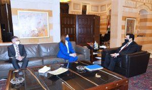 الأوضاع العامة بين دياب والسفيرة الأميركية