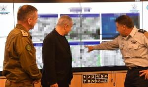 نتنياهو يتفقد غرفة العمليات الجوية