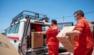 65 جهاز أوكسيجين من اليونيفيل للصليب الأحمر