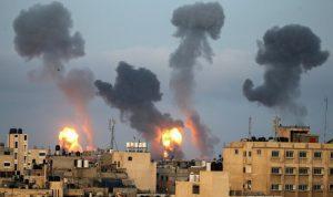 قصف إسرائيلي غير مسبوق على غزة