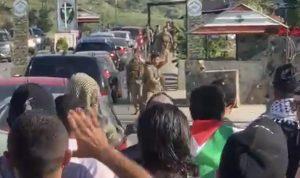 فلسطينيون حاولوا عبور حاجز الجيش عند الخردلي