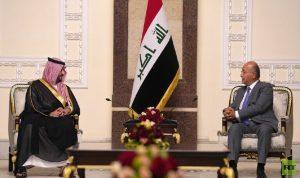 صالح وبن سلمان يؤكدان أهمية العراق في استقرار المنطقة