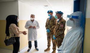 جولة للكتيبة الإيطالية على المستشفيات الحكومية بتبنين وقانا