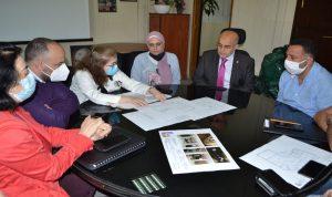 يمق بحث في دراسة مشروع إعادة ترميم مبنى بلدية طرابلس