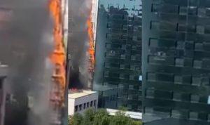 حريق ضخم في فندق بالعاصمة الإسبانية مدريد