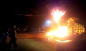 حريق كبير في أحد مستودعات وادي الريحان