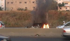 مأساة طوابير الذل… مواطن خسر سيارته واحترقت!