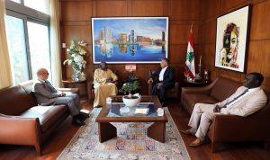 ابراهيم استقبل السفير السنغالي