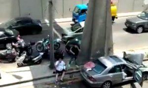 حادث سير مروّع على أوتوستراد المدينة الرياضية