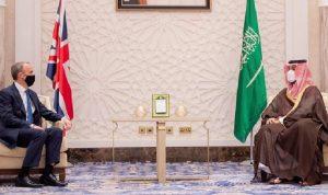 العلاقات الثنائية بين بن سلمان ووزير خارجية بريطانيا