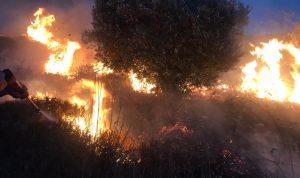 إصابة عنصر في الدفاع المدني بإخماد حريق
