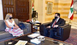 دياب استقبل سفيري سويسرا والصين