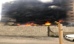 حريق كبير في فندق بالروشة (فيديو)