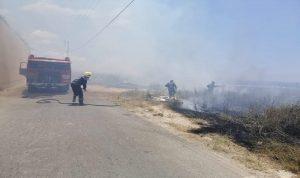 حريق في بلدة عدلون