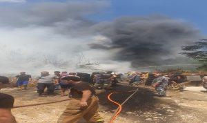 """حريق كبير بالقرب من ثكنة """"قوى الأمن"""" في الوروار"""