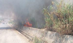اصابة عنصرين من الدفاع المدني خلال اخماد حريق!