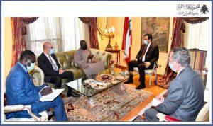 دياب استقبل سفير السنغال مودعا